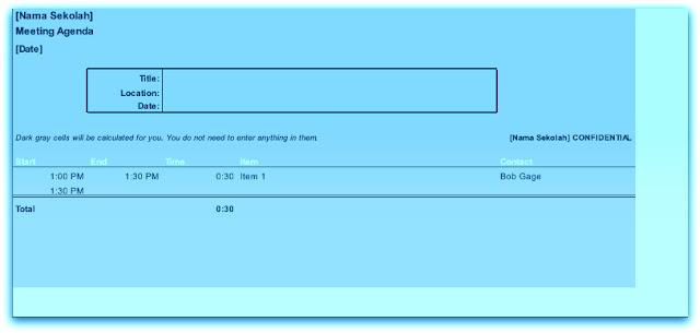 Download File Aplikasi Agenda Rapat Harian, Bulanan Dan Tahunan Sekolah Lengkap Gratis