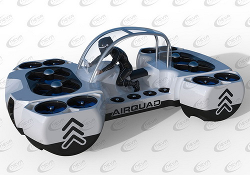 www.Tinuku.com Neva Aerospace presents AirQuadOne as private VTOL