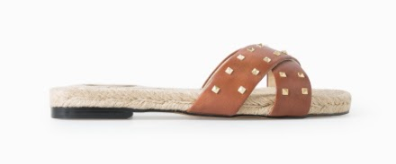 Mango Leather Esparto Sandals