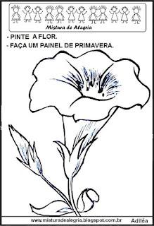 Desenho de flor para colorir