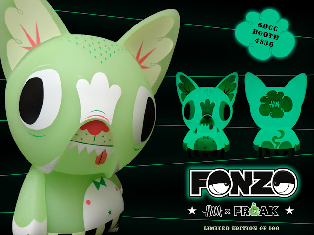 San Diego Comic-Con 2012 Exclusive Glow in the Dark Fonzo by Gary Ham & Freak Store