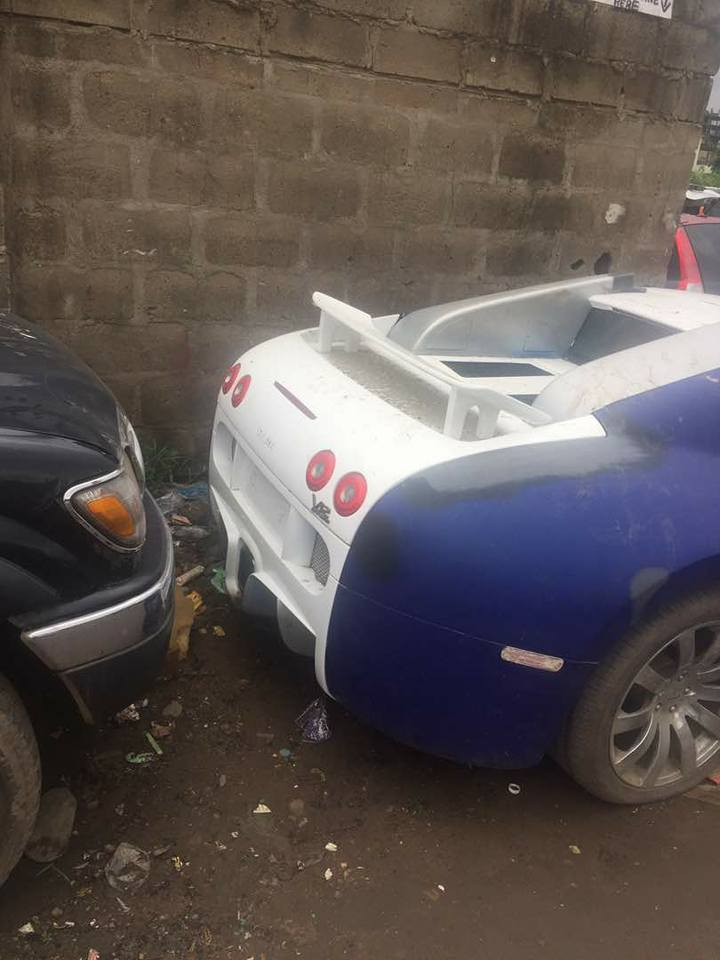 see abandoned n400m bugatti veyron car spotted in lagos photos. Black Bedroom Furniture Sets. Home Design Ideas