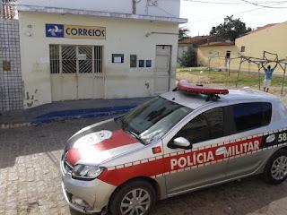 """Agência dos Correios de São Vicente do Seridó é assaltada por dois criminosos de """"cara limpa"""""""
