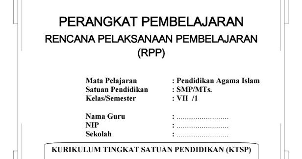 Download Rpp Dan Silabus Pai Untuk Smp Kelas 7 8 9 Ktsp Semester I Dan Ii Makalah Pedia