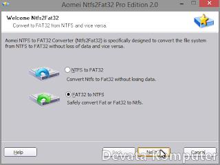 Merubah, FAT32, NTFS, Kelebihan, Kekurangan