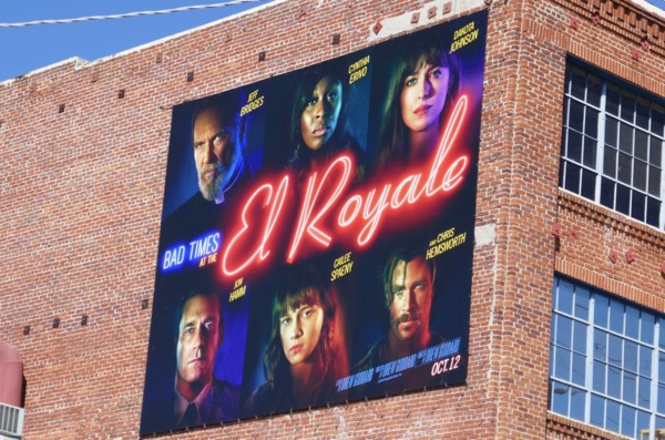 Bad Times at El Royale film billboard