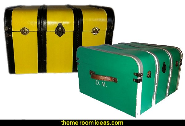 Hogwarts House Trunks Hufflepuff  SLYTHERIN GREEN