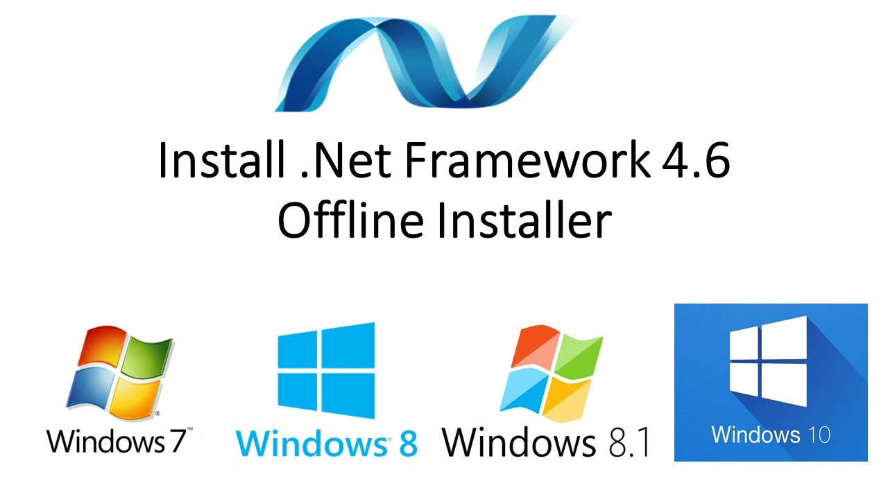 Microsoft .NET Framework 4.6.2 32-bit (x86) 64-bit (x64) Standalone Offline Installer for Windows | logo