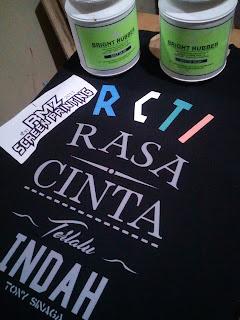 Kaos typografi RCTI