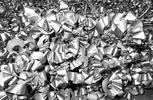 Shavings metal processing