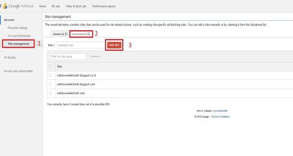Aturan baru Adsense, Cara Claim Blog Atau Website ke dalam google Adsense