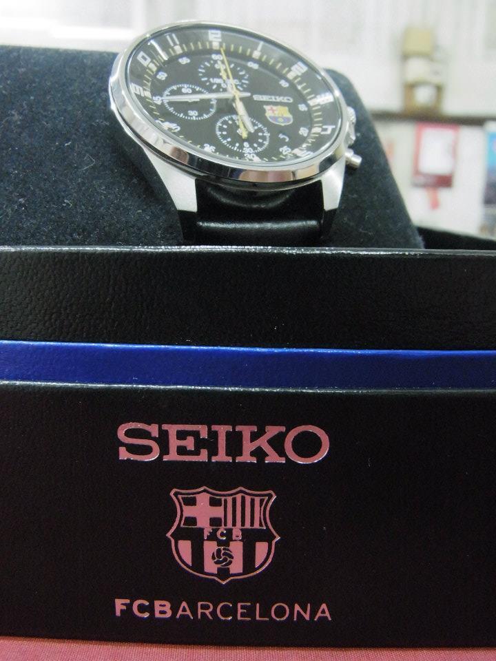 E-TIMES  Seiko Chronograph F.C. Barcelona Mens Watch Warranty Set (Used) a3ba486486