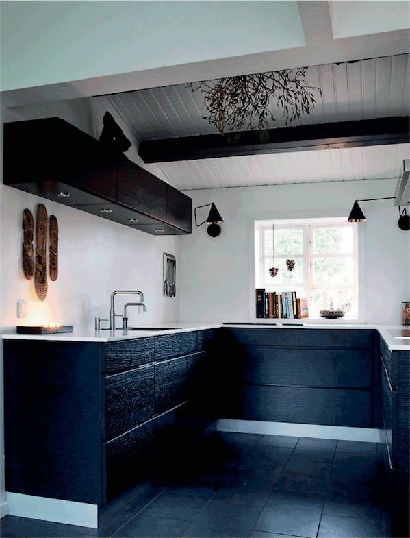 cocina estilo nordico decorada de navidad chicanddeco