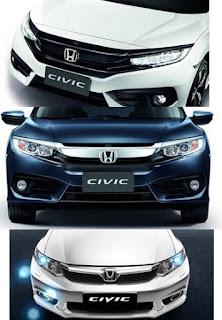 ด้านหน้า New Honda civic 2016