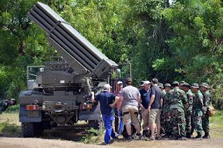 MLRS RM70 Vampire Batalyon Roket 2 Korps Marinir