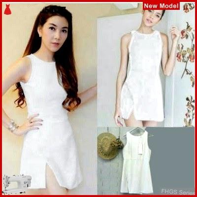 FHGS9090 Model Dress Aura BW, Dress Pakaian Perempuan Scuba BMG