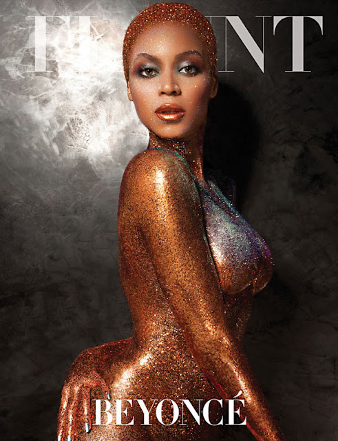 Beyonce Flaunt Magazine Naked and covered in glitter; Beyonce transforms for Flaunt Magazine