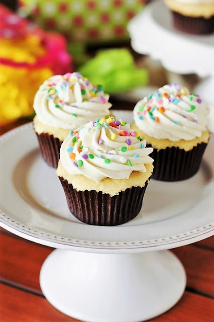 The Best Vanilla Cupcakes with the Best Vanilla Frosting image