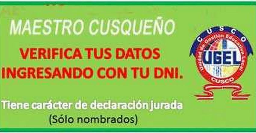 Docentes de la UGEL Cusco deben validar sus datos hasta el 2 de mayo - www.ugelcusco.com