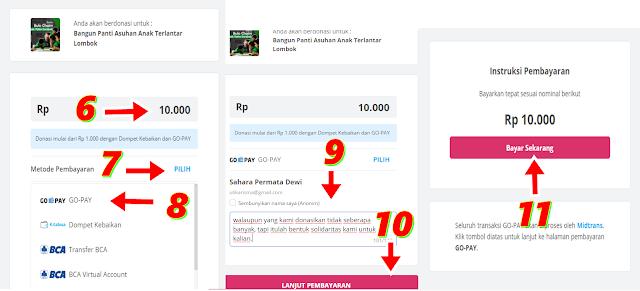 Donasi Di Kitabisa.com Menggunakan GO-PAY Mulai Dari 10.000