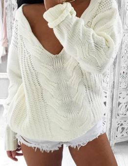Women's Winter Plunging Knitted Sweater