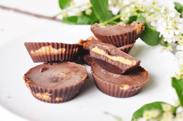 Fit Reese's - czekoladki z masłem orzechowym | dietetyczny deser |