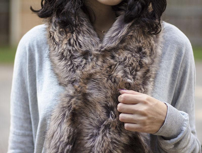 Target faux fur scarf