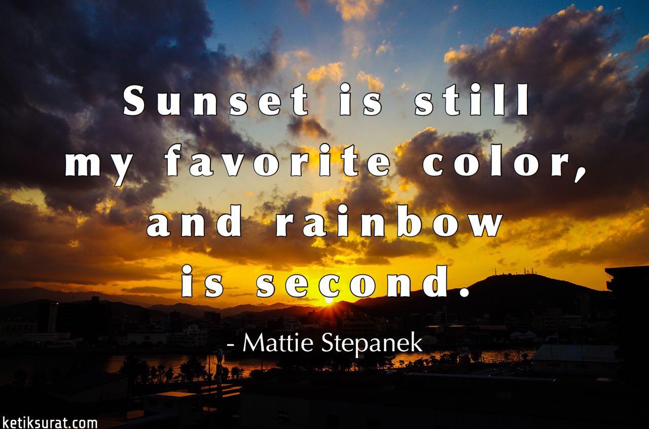 Kata Kata Tentang Sunset Bahasa Inggris