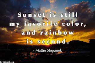 quotes bahasa inggris about sunset dan artinya