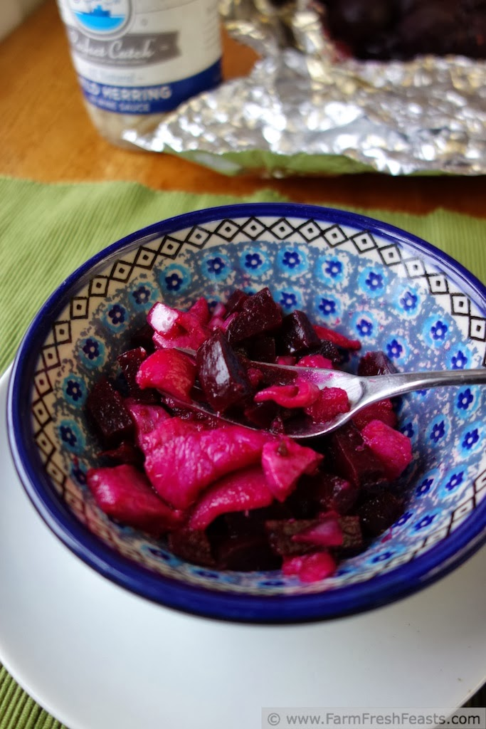 Quick Pickled Beet and Herring Salad | Farm Fresh Feasts