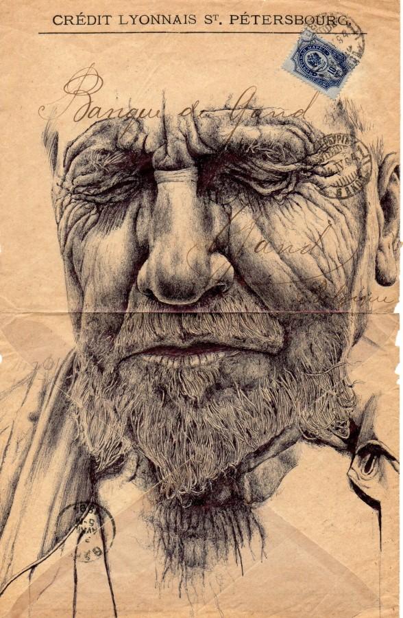 Реалистичные рисунки шариковыми ручками. Mark Powell 31
