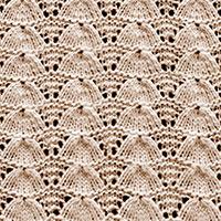 Eyelet Lace 59: Lucina Shell | Knitting Stitch Patterns.