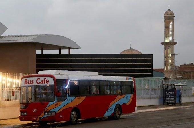 """Müteşebbisler boş durmuyor yeni iş fikri """"Otobüs Kafe"""""""