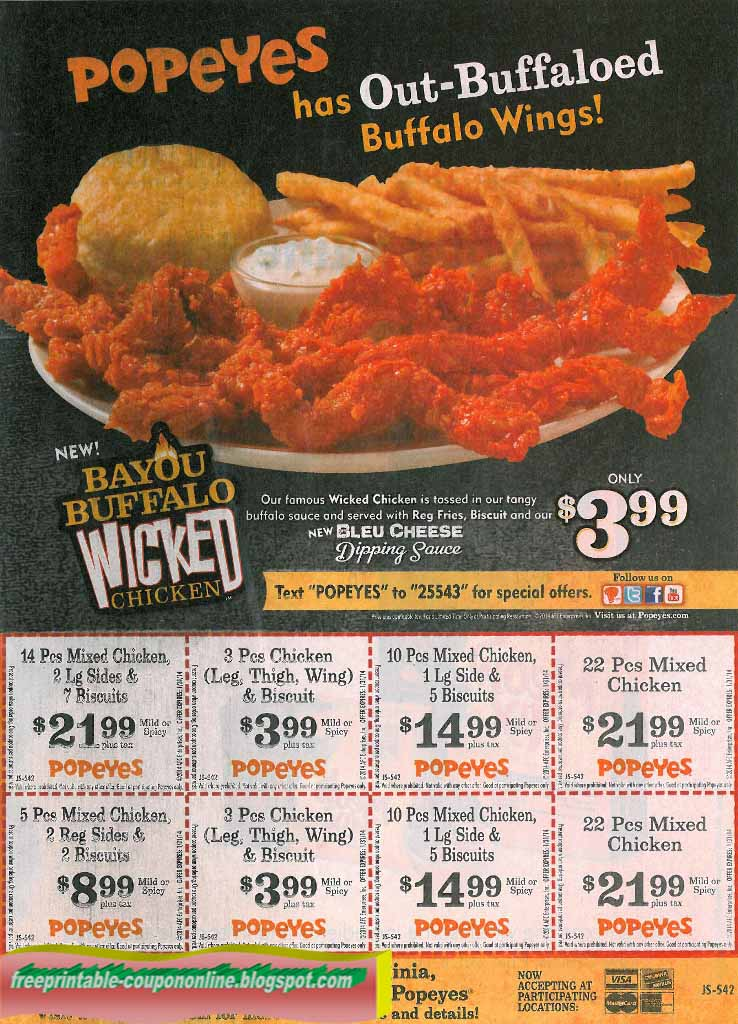 photograph about Popeyes Application Printable referred to as Popeyes chook discount codes september 2019