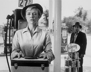 Inger Stevens in a scene from The Twilight Zone, The Hitch-hiker (1960)