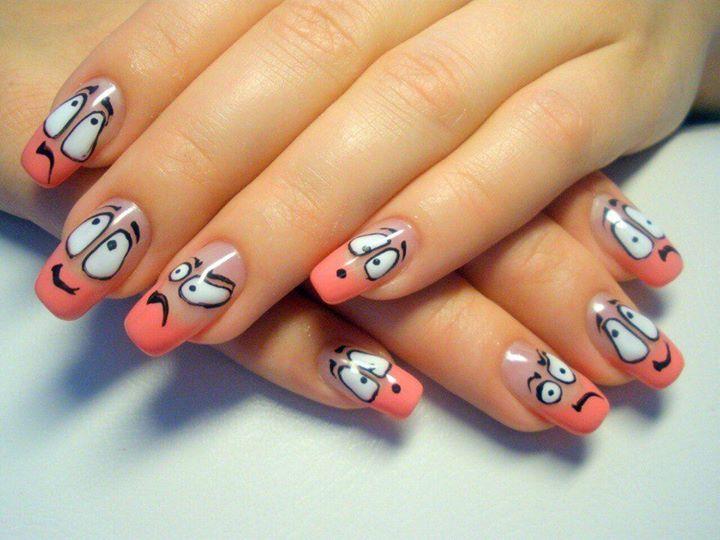 Марта детей, прикольные ногти с рисунком фото гель