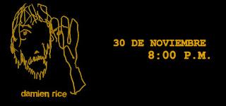 Concierto de DAMIEN RICE en Bogotá 2018