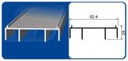 Puerta Corrediza Comercial PC 8025 OXXO