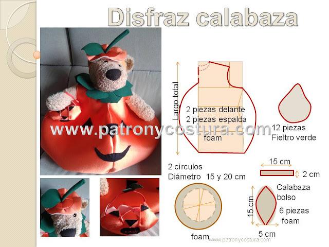 www.patronycostura.com/Disfraz calabaza DIY. Tema 188