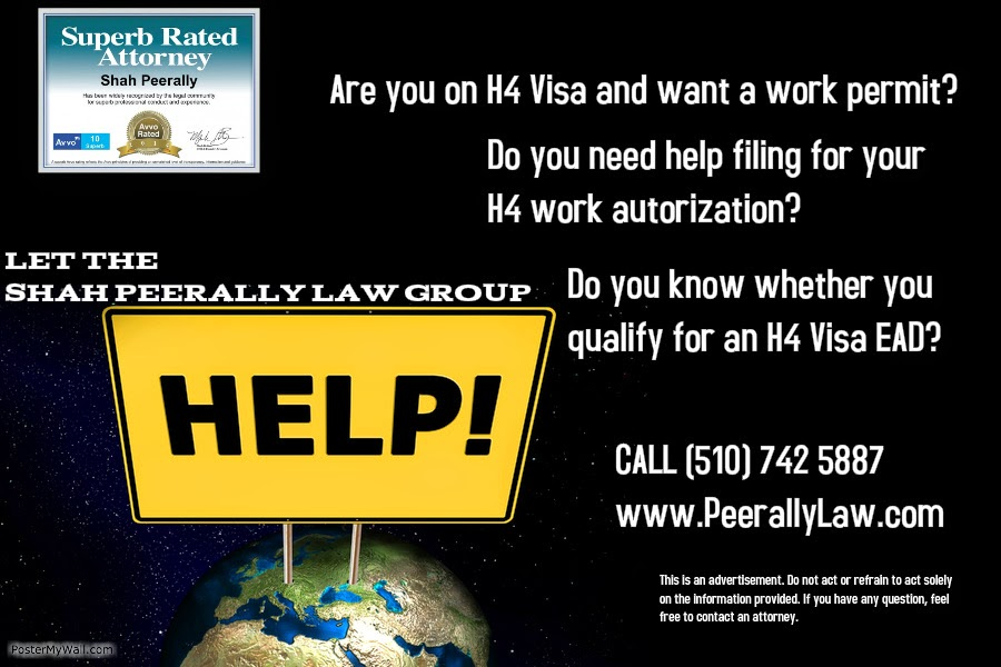 H4 Work Authorization, Work Permit or H4 EAD and H4 Visa Issues: Can
