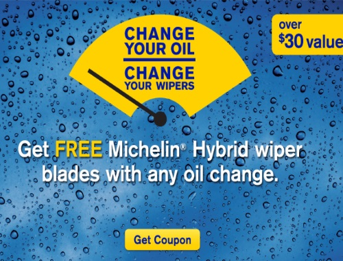 Mr Lube Free Michelin Hybrid Wiper Blades Coupon