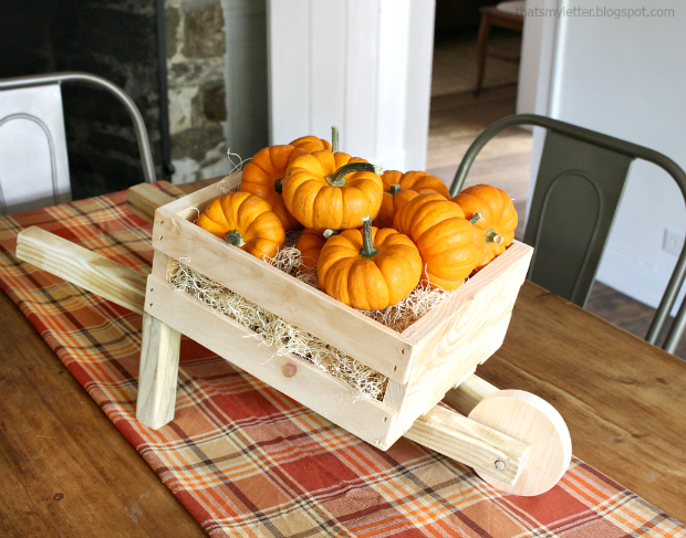 diy tabletop rustic wheelbarrow mini pumpkins