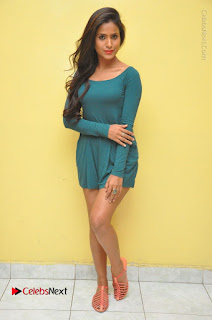 Telugu Actress Prasanthi Stills in Green Short Dress at Swachh Hyderabad Cricket Press Meet  0126.JPG