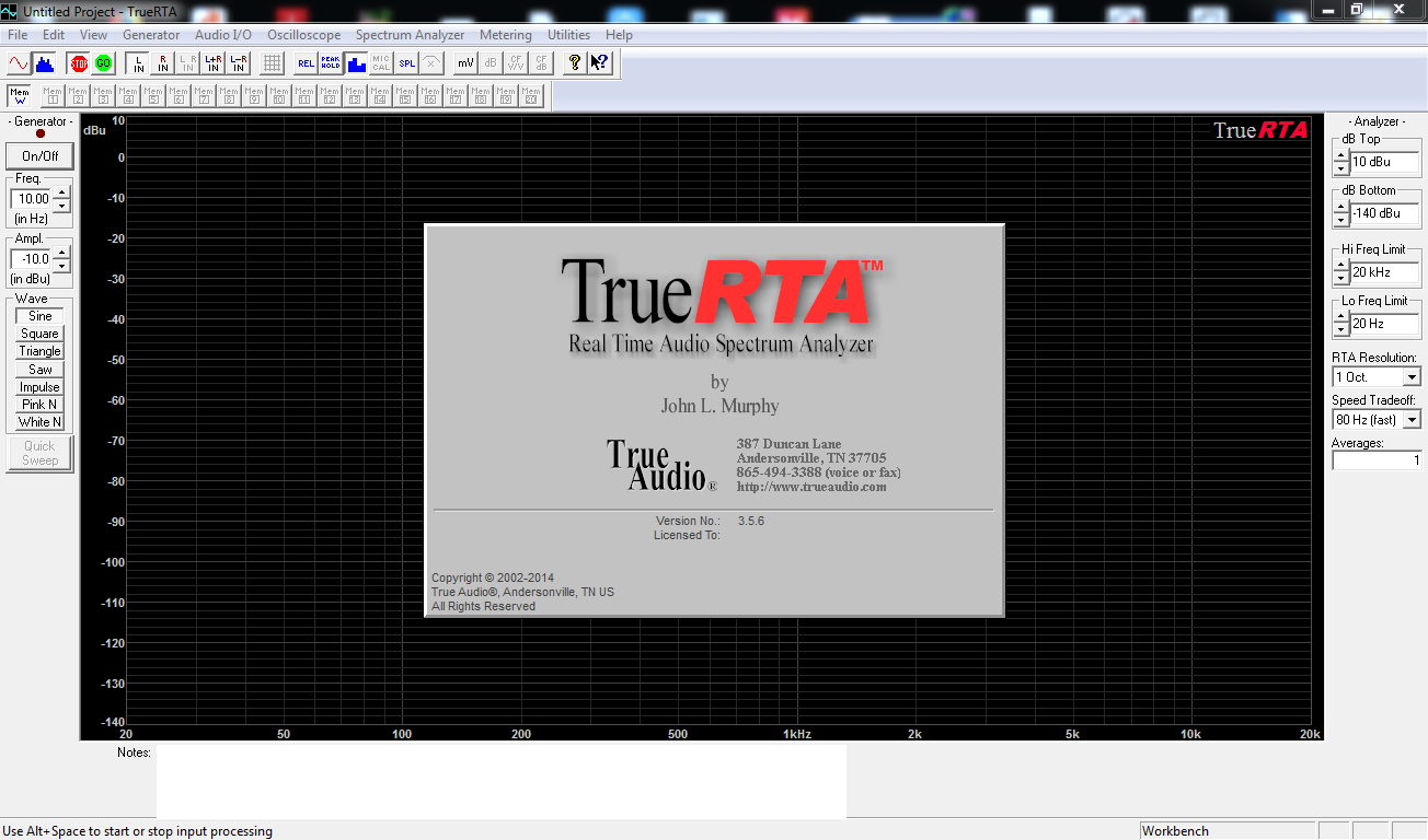Download TrueRTA, Software Audio Gratis Untuk Menyesuaikan Karakteristik Frekuensi Amplitudo Speaker