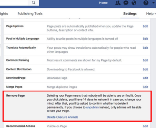 Delete Pages on Facebook - How to Delete a Page on Facebook that I Created