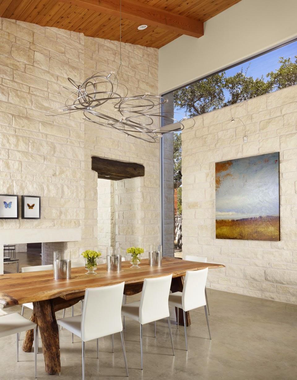 Hogares frescos la belleza inesperada de las paredes r sticas - Paredes de piedra para interiores ...