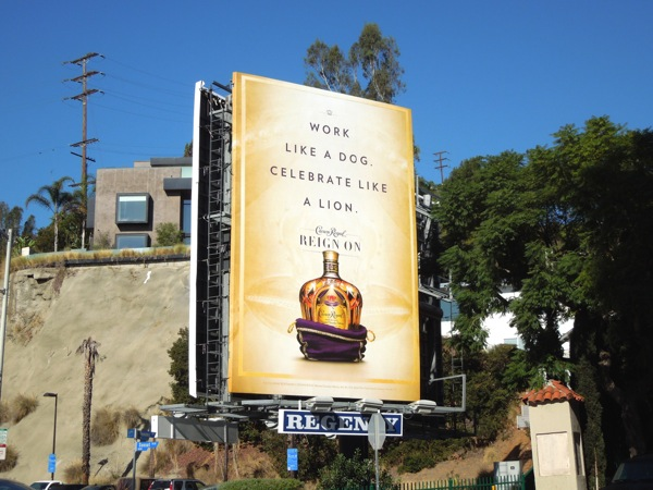 Crown Royal Whisky billboard Sunset Strip