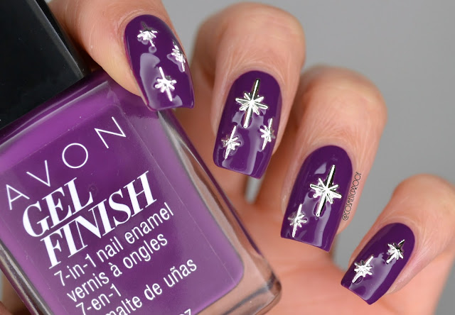 Pantone Purplicious Avon Gel Finish Nail Art