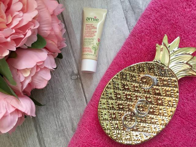 spring skincare routine amie new leaf deep pore exfoliating polish