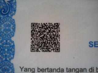 Kode QR pada Surat Keterangan Hasil Ujian Nasional (SKHUN)